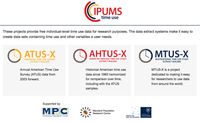 American and international time use data now part of IPUMS
