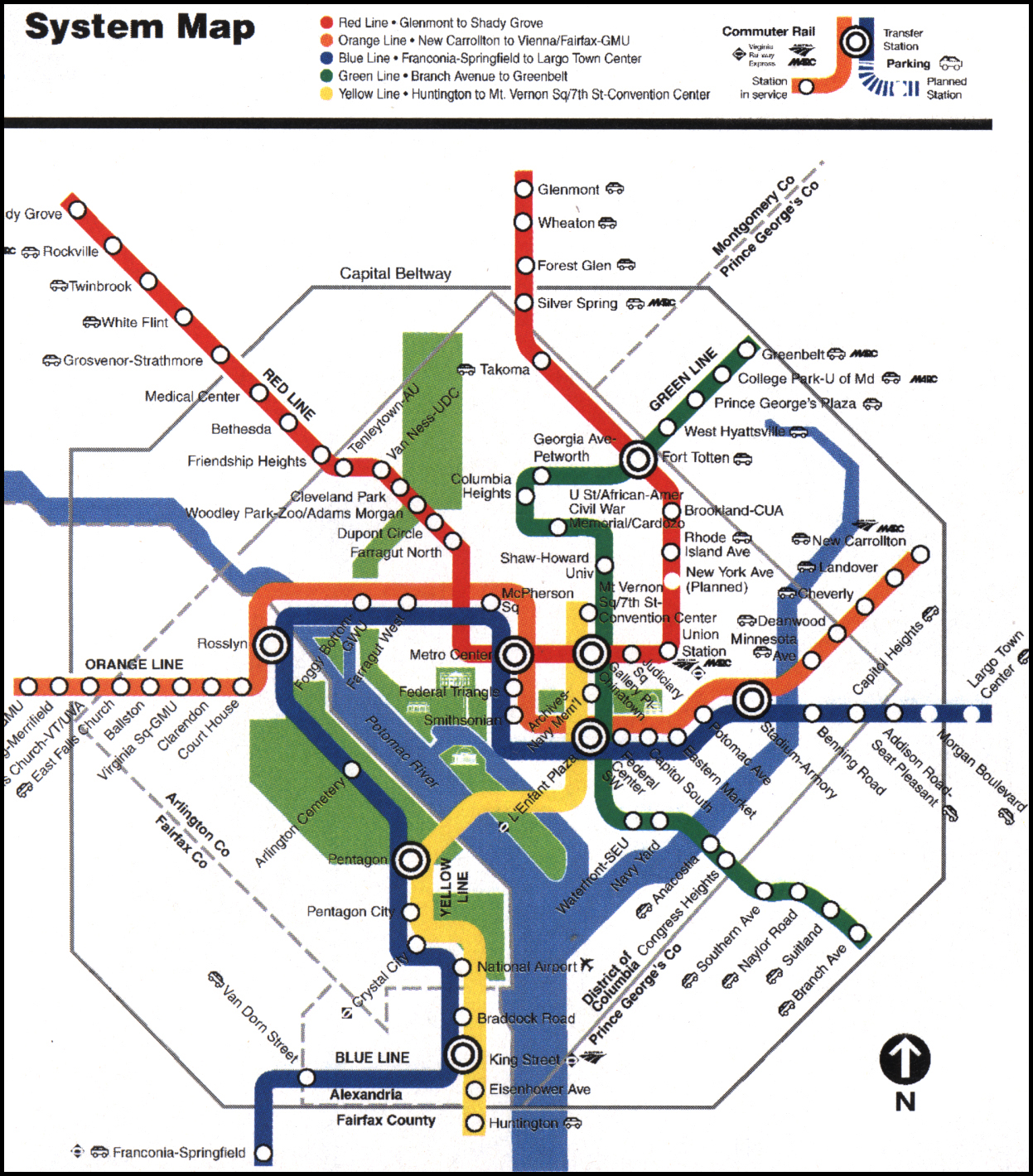 Washington dc Map With Metro Stations dc Metro Map | Maps Plaza